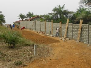 Building the perimeter wall