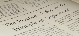 The Practice of Sin of the Principle of Separation